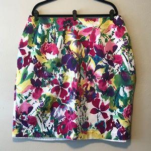 REPOSH Jones NY Silk Skirt